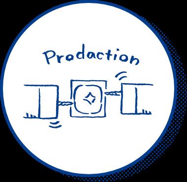 プロダクションのイラスト